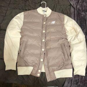 New Balance varsity dusted pink puffer jacket